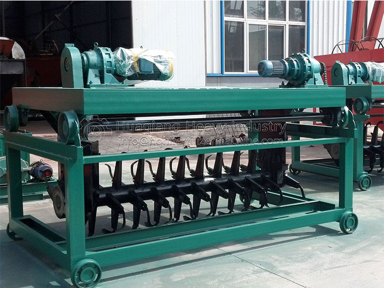Advantages of compost turning and fermentation of chicken manure Simple-compost-turning-machine-2