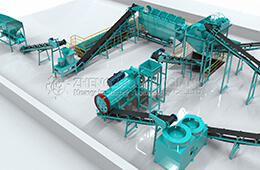 Huaqiang Cow Manure bio Organic Fertilizer Production Line