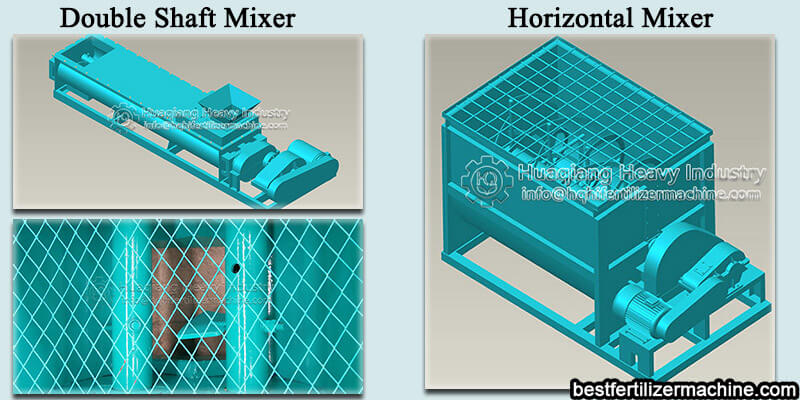 double shaft mixer and horizontal mixer