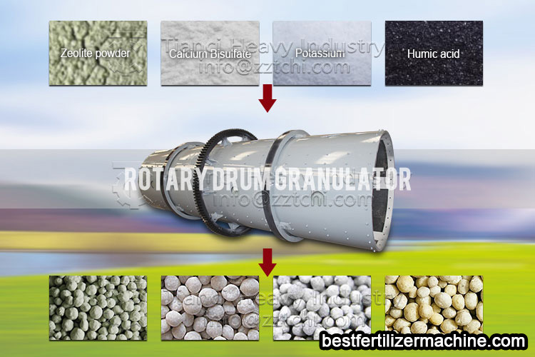 rotary drum granulator machine