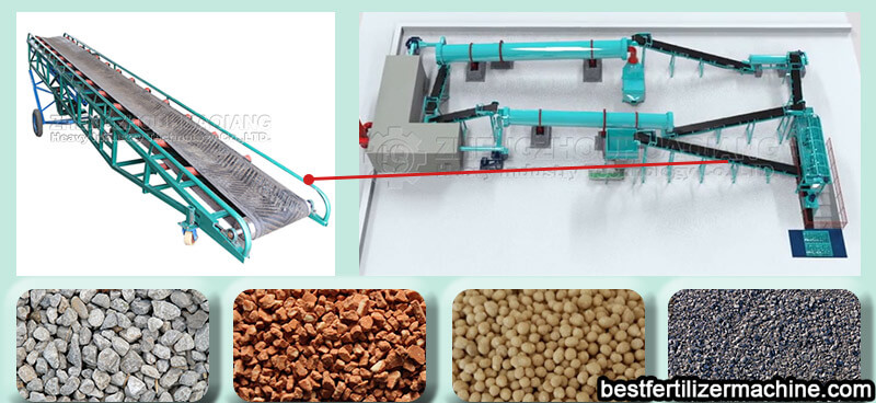 belt conveyor of organic fertilizer production line