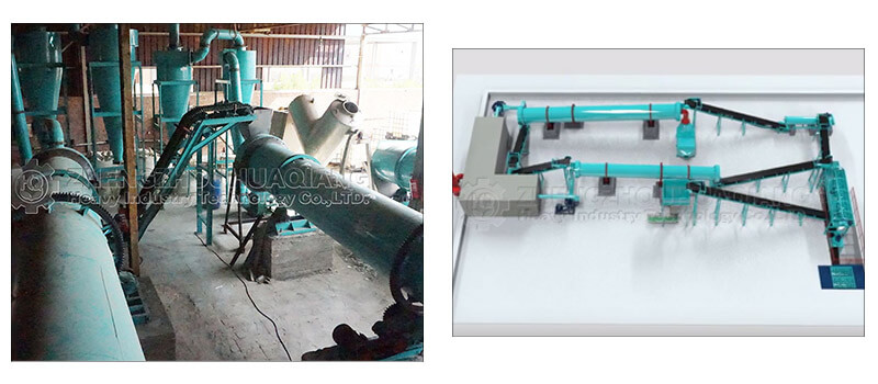 installation of fertilizer production line equipment