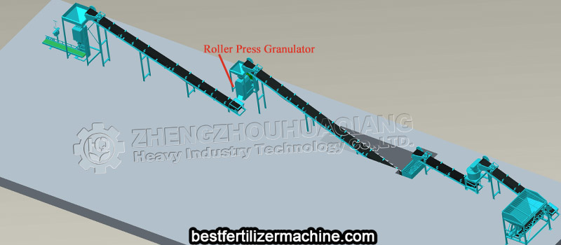 roller press granulator for npk fertilizer production line